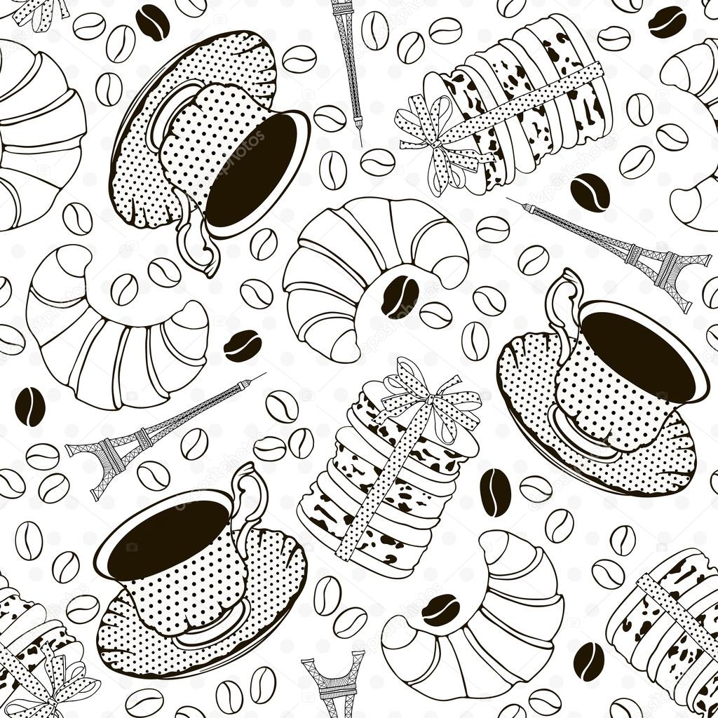 Monochrome seamless pattern with symbols of france french bre monochrome seamless pattern with symbols of france french bre stock vector 29469197 biocorpaavc