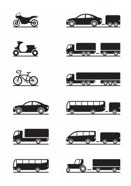 Road vehicles icons