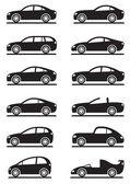 Fotografie verschiedene moderne Autos