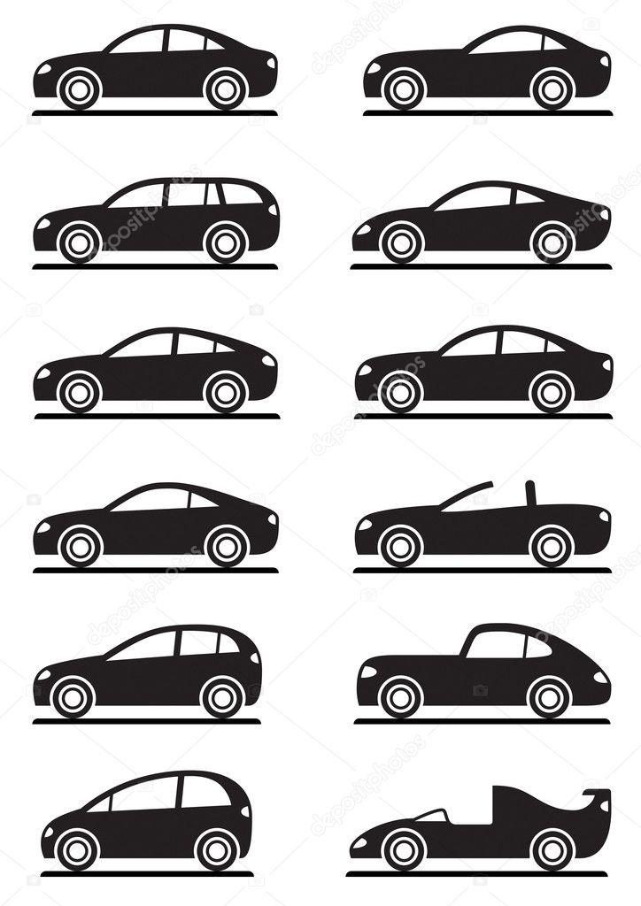 Different modern cars