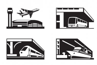 Stations of public transport in perspective
