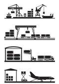 Fotografie Cargo-Terminals-Icon-set