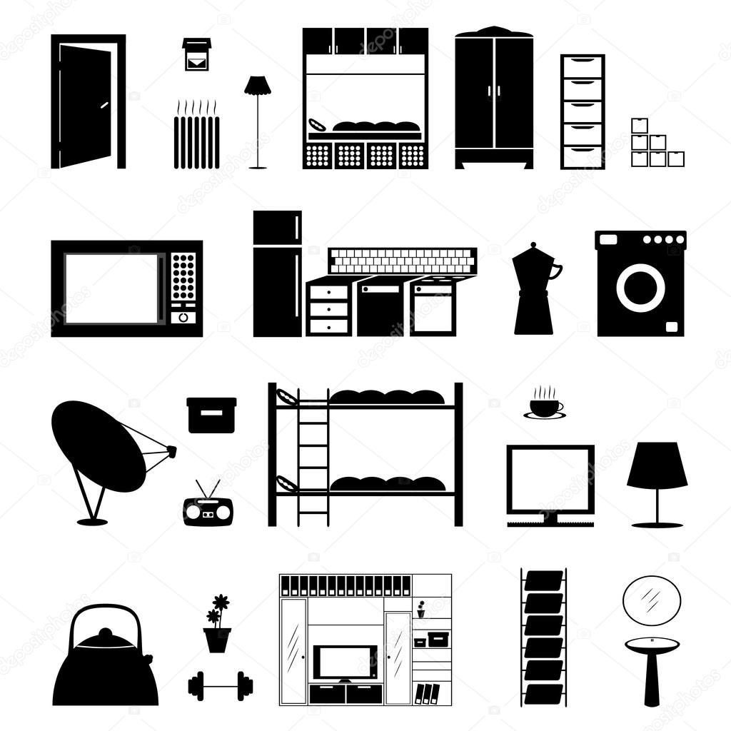 Furniture shape isolated on white