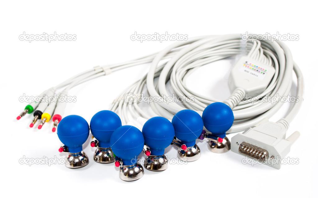 ECG Electrodes and cable — Stock Photo © joris484 #30876453