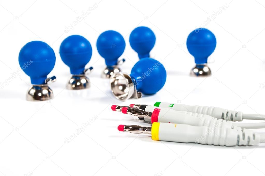 ECG Electrodes and cable — Stock Photo © joris484 #30876773