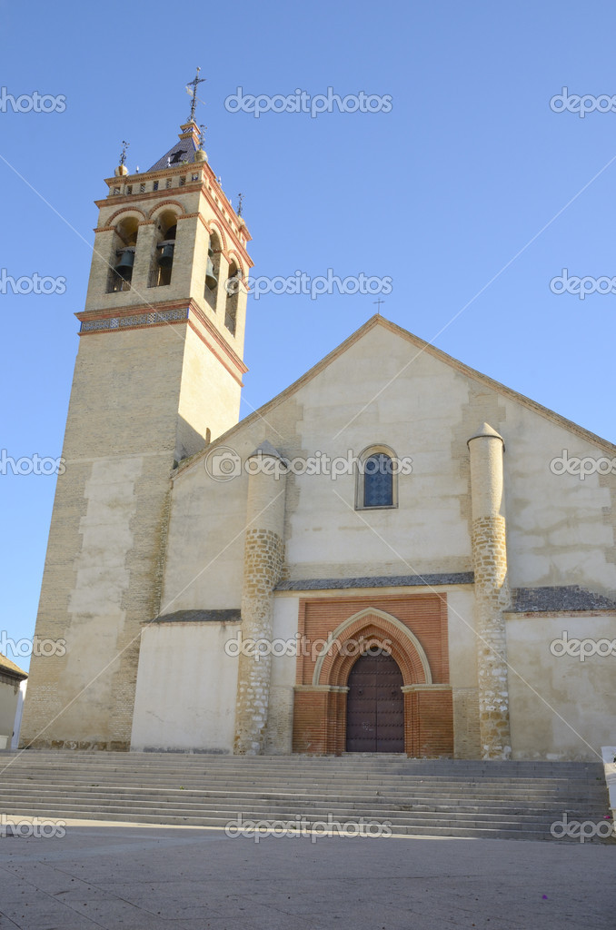 The Church of San Juan Bautista, located in the historic center of Marchena, a village in the province of Seville (Spain)