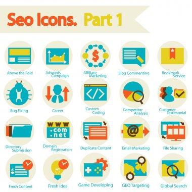 SEO icons set part 1