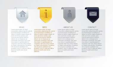 Vector luxury progress cards with simple icons for your business