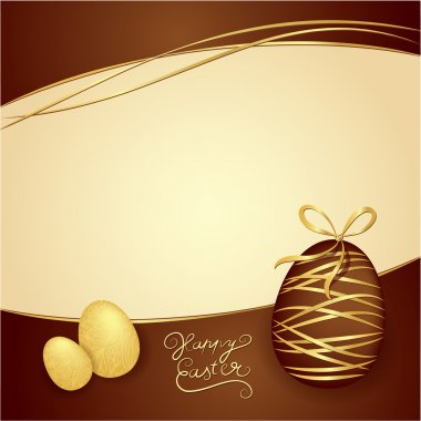 Easter box of chocolates. Vector thematic background. Chocolate
