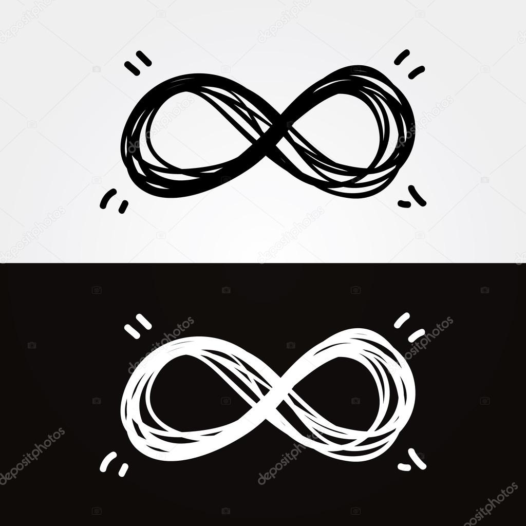 Vector Hand Draw Infinity Infinity Symbol Conceptual Iconic
