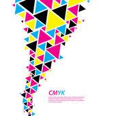 profil barev CMYK. abstraktní trojúhelník toku - twister v cmyk col