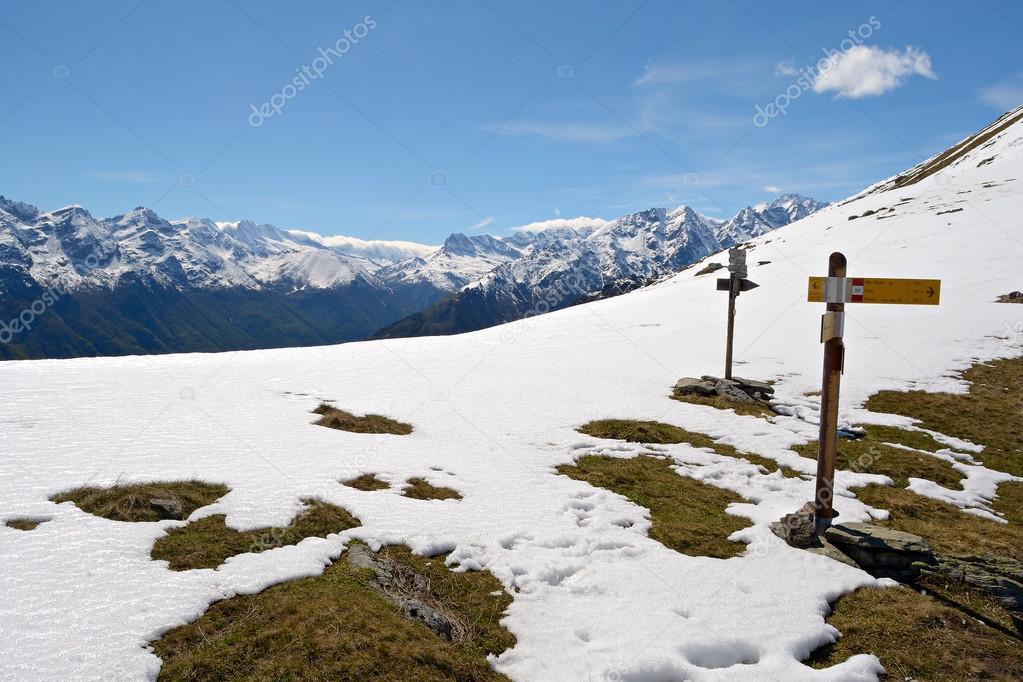 Mountain signposts