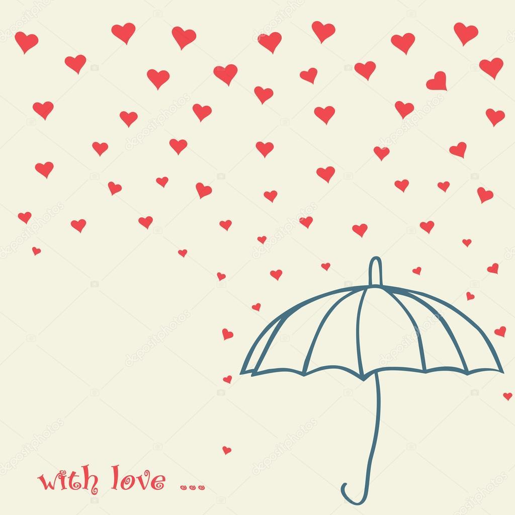 rain of love vector
