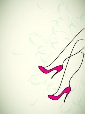 beautiful legs heels vector