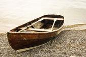 Fotografia vecchia barca di fila