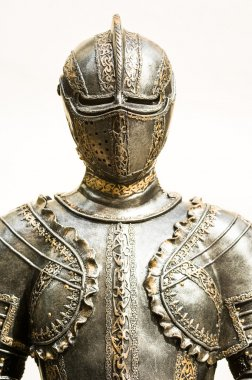Beautiful antique suit of armor stock vector
