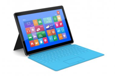 The tablet PC with a surface keyboard