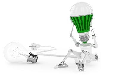 Robot lamp twist led lamp in head.
