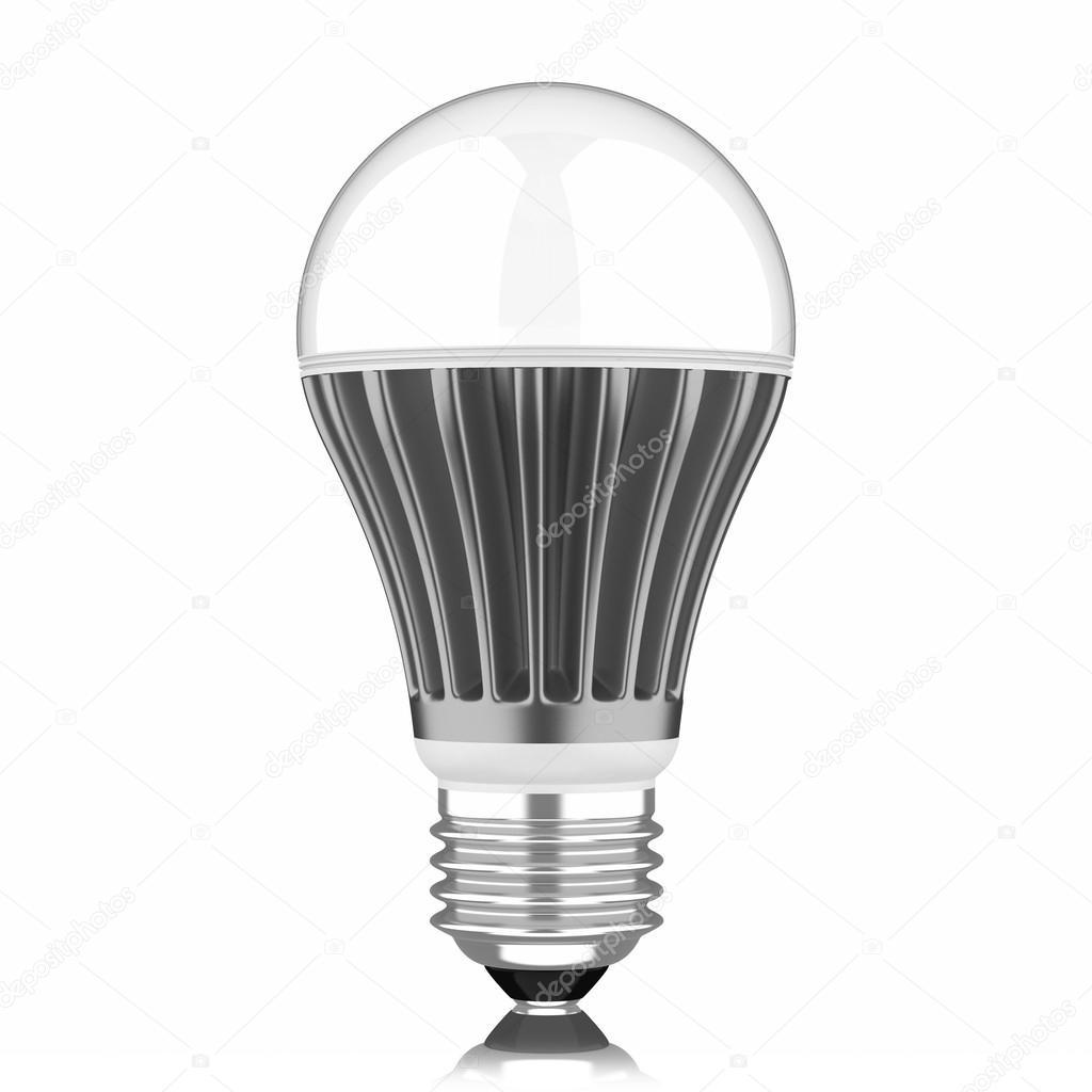 Lampe Led Moderne Isole Sur Fond Blanc Photographie Aleksanderdnp