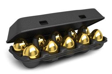 Set of golden eggs