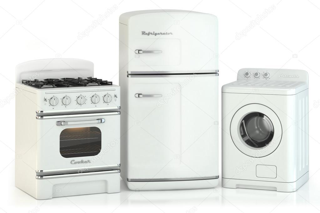 Satz von retro-Haushaltsgeräte — Stockfoto © aleksanderdnp #49342401