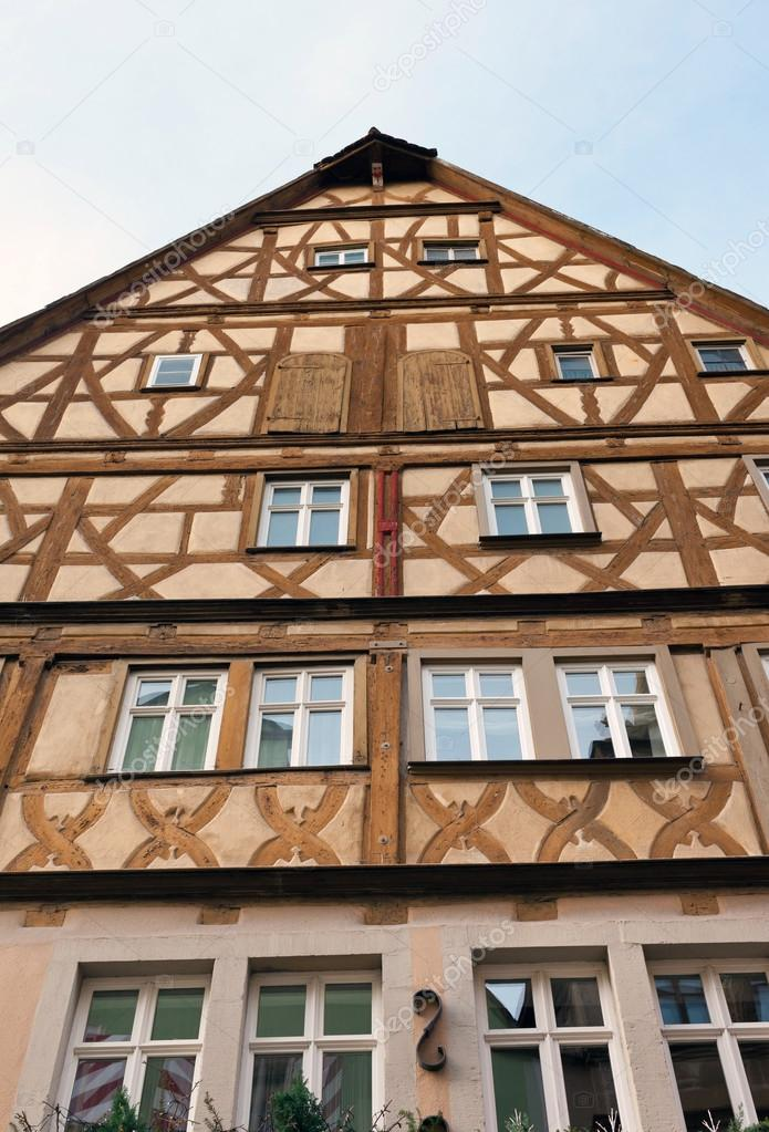 traditionelle halbe Fachwerkhaus in Rothenburg Ob der tauber ...