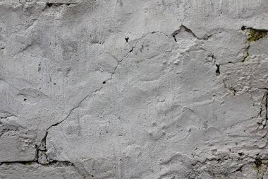 Texture of old whitewashed walls.