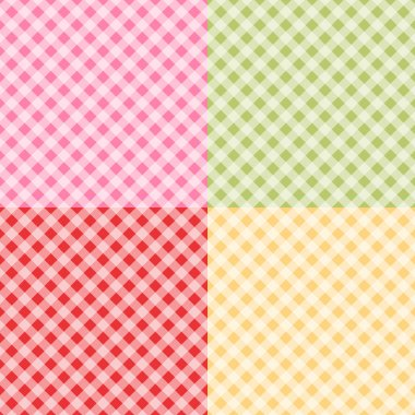 Retro gingham background