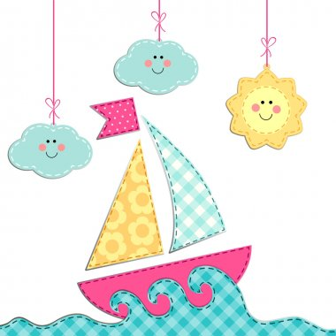 Card with ship