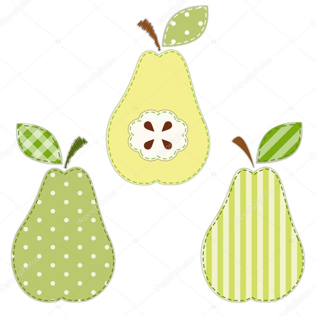 Pears fabric applique