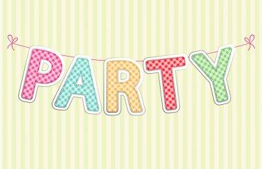 retro garland PARTY