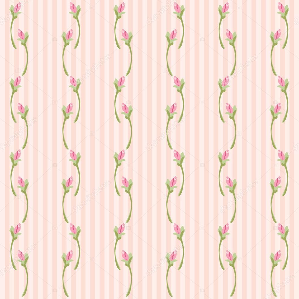 fondo vintage como papel pintado retro con rosas en estilo shabby chic sobre fondo rayas u vector de ishkrabal