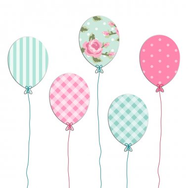 Retro party balloons