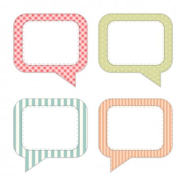 Vintage speech bubbles
