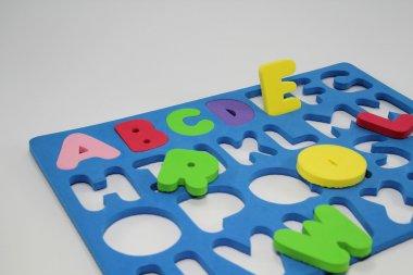 Colorful Foam Alphabet Puzzle.