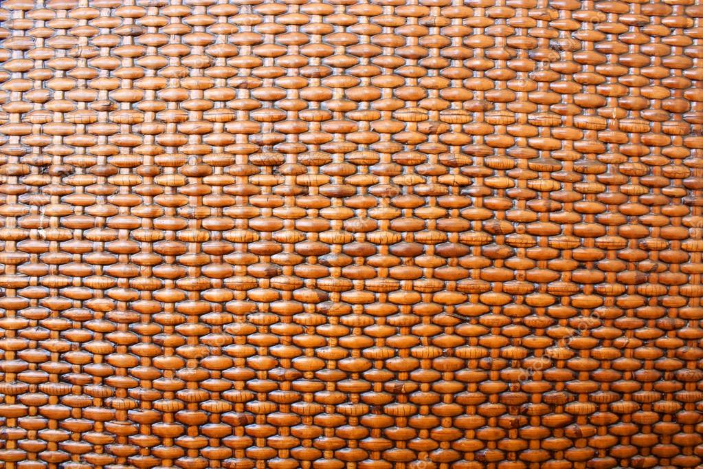 Woven rattan with natural patterns.  Stock Photo
