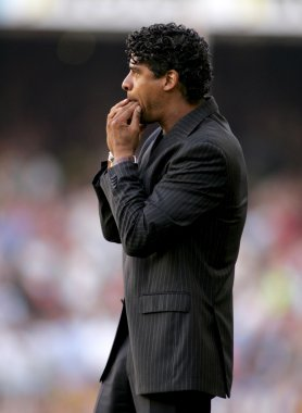 Frank Rijkaard coach of Barcelona