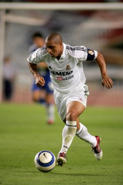 Brazilian player Roberto Carlos of Real Madrid