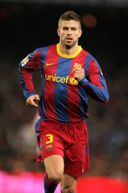 Pique of Barcelona during the match between FC Barcelona