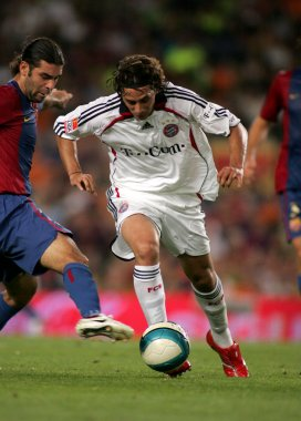 Peruvian player of Bayern Munich Claudio Pizarro