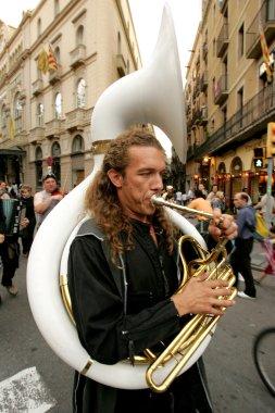 Trombonist of music troop Yuri i la seva banda de cosmonautes