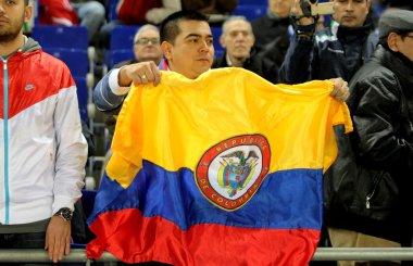atletico madrid oyuncu radamel falcao Kolombiyalı destekçisi
