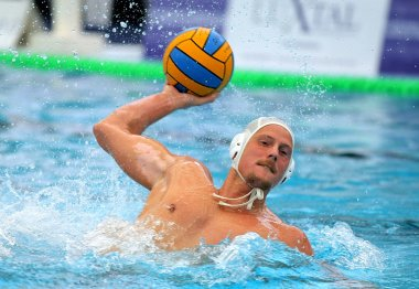 Hungarian waterpolo player Arpad Babay of CN Mataro