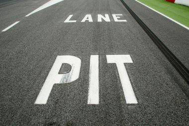 Pit Lane Entrance