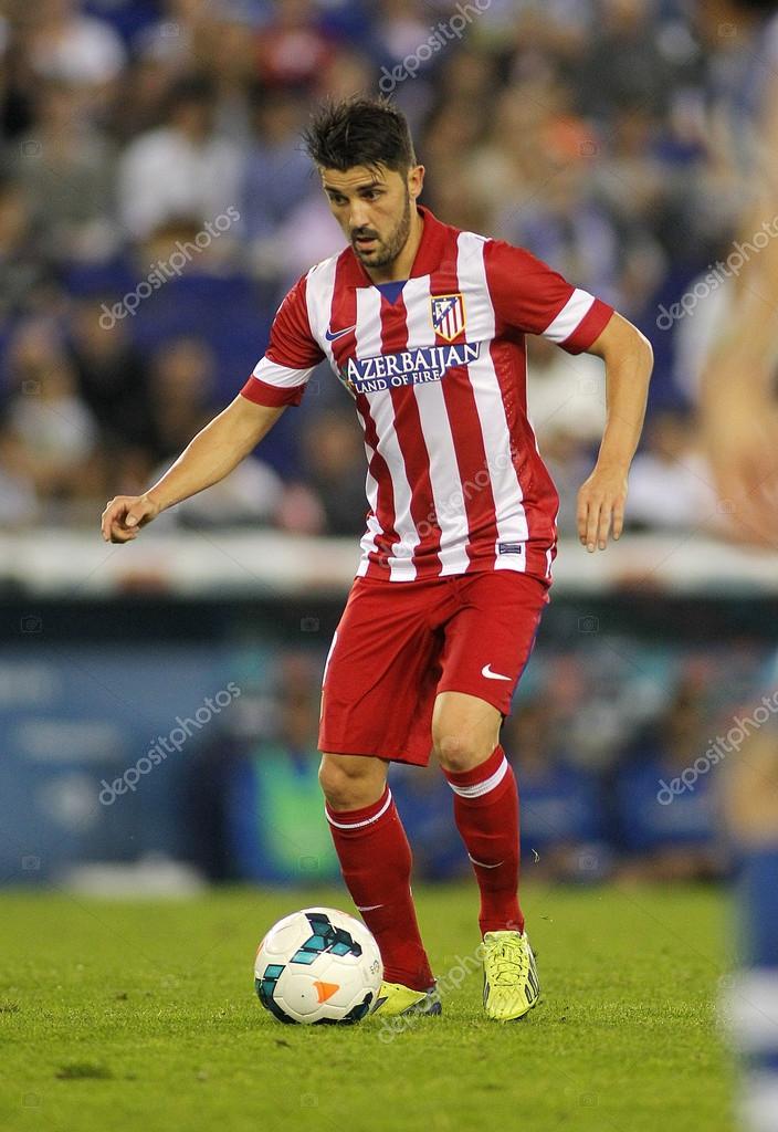 David Villa of Atletico de Madrid in action during a Spanish League match  against RCD Espanyol at the Estadi Cornella on October 19 789deba89