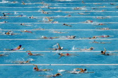 Competition swimming pool