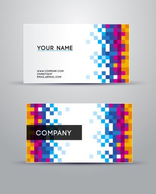 Colorful vector business card set