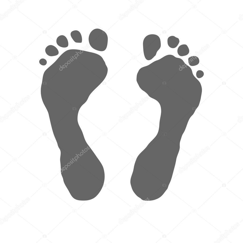 Prints Of Human Foot Stock Vector C Bulycheva Art 1 31400381