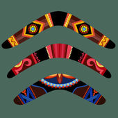 Photo Boomerangs with aboriginal design