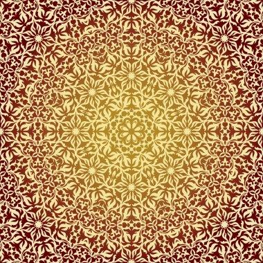 Lace oriental ornament, ornamental floral pattern.